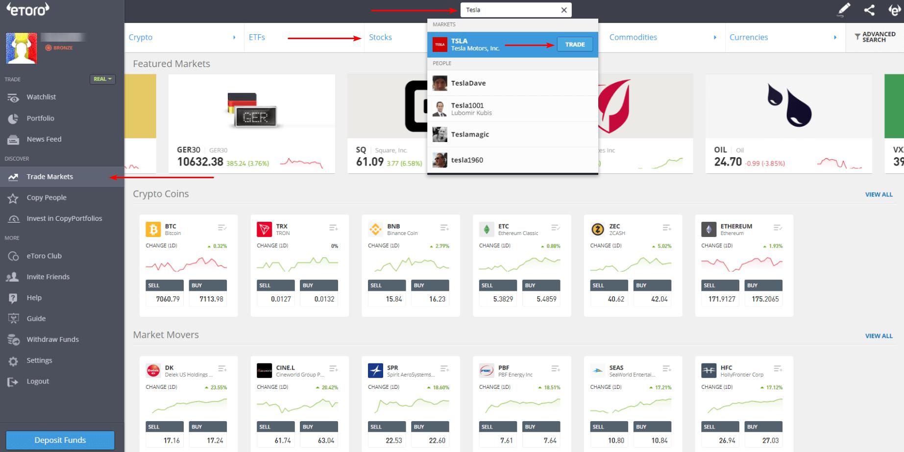 cumpara actiuni online la bursa